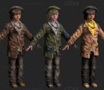 次时代欧美贫困小孩FBX模型