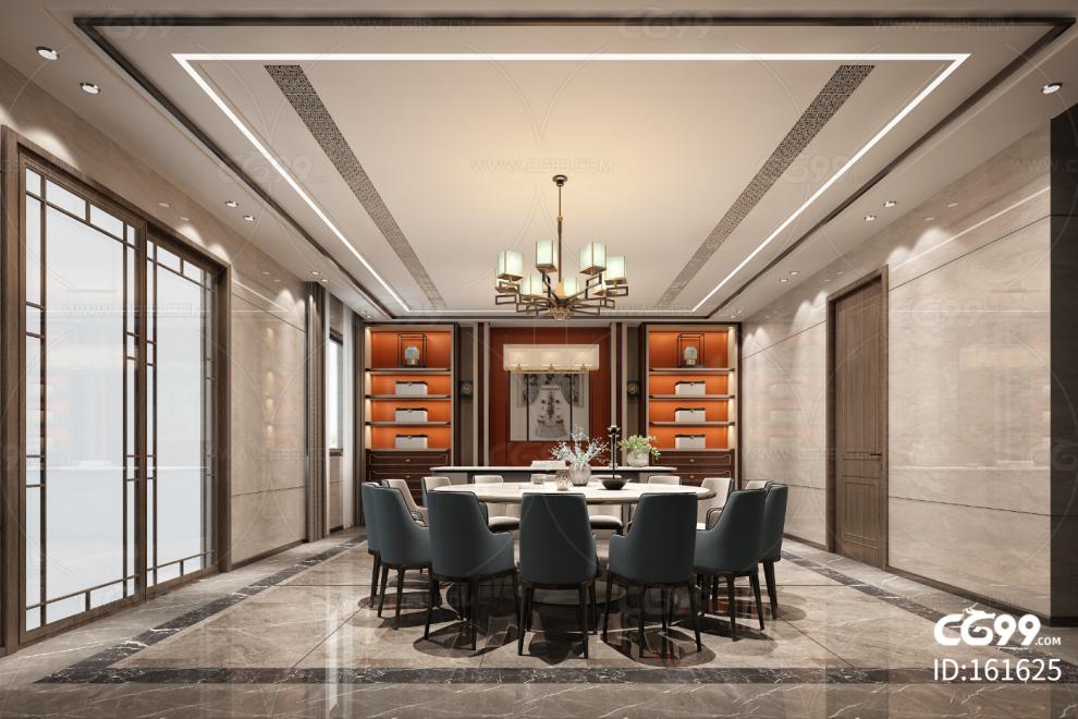 新中式别墅餐厅