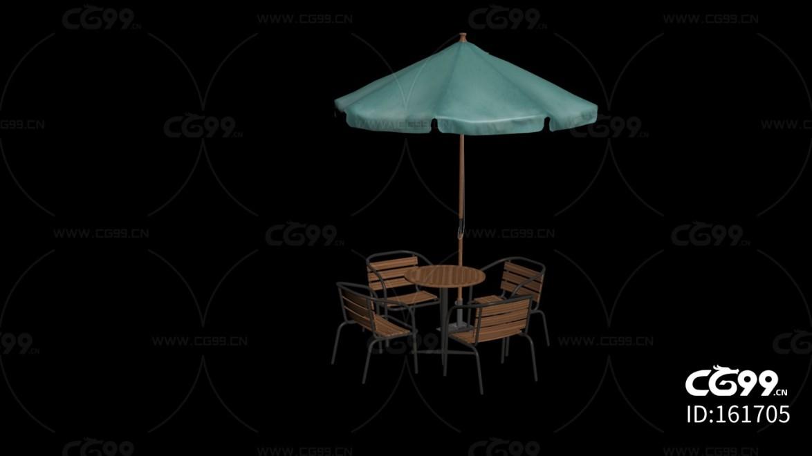 城市公用设施 多人聚餐桌椅
