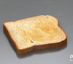 写实低模吐司 面包 toast 多士 听型法式烤面包 早餐 食物