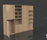 美式衣柜儿童趟门衣柜组装实木推拉门衣柜现代简约家用卧室滑门大衣柜新中式衣柜