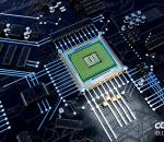 芯片 CPU 处理器 科技芯片 能量方块 数据 电流 数据流 电子流动 未来 科技 科幻 智能 主板
