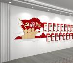 简约红色党的百年历程光辉历程文化墙