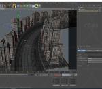 赛博朋克城市街道 黄昏 游戏 城市建筑场景 蒸汽科幻