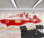 新中式标语 党建文化墙
