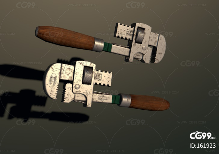 管钳子 管扳手 老虎钳 修理工具 五金工具 2k 扳手模型