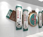 中式绿色 创城城市文明 城市文化墙