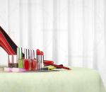 高跟鞋 红色高跟鞋 化妆品 口红 指甲油 化妆品组合 美容护肤化妆品 面霜胭脂护手霜化妆用品 彩妆用
