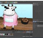 卡通奶牛 农场动物 动画 卡通角色 IP 吉祥物 Q版奶牛 面包 草地 低面奶牛 牛 可爱奶牛 挤