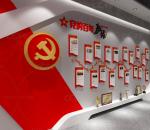 红色简约党的百年历程发展历程文化墙