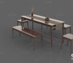 桌椅 木桌 木椅 中式桌椅 茶桌 中式桌子 中式椅子 休闲古风桌椅桌子椅子木桌