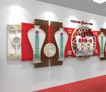 花瓶中式 红色最多跑一次标语口号 党建文化墙