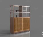 展架 木架 柜子 书柜 书架 置物柜 复古 家具 货架 搁板 储物架