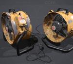 PBR-老旧生锈落地风扇