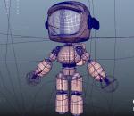 PBR 高品质 机器人 可爱 爱死亡 卡通 有骨骼绑定 黄色 科幻