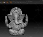 PBR 高品质 佛像 印度 雕像 彩色 大象 扫描 写实 甘尼撒