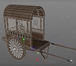 PBR-中国古代马车 货车 手推车