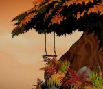 卡通 枫树 荡秋千 lowpoly 老树 参天大树 巨树 仙树 粗树干 枝繁叶茂 枫叶