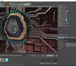 人脑 脑子 芯片 CPU 处理器 科技芯片 能量方块 数据 电流 数据流 电子流动 未来 科技 科幻