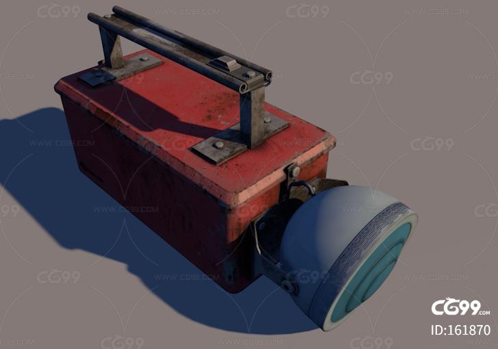 矿灯 老式电筒 电筒 工地 探照灯 灯具 写实手电筒 简模