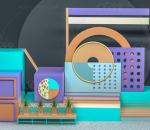 美陈展示场景 电商产品展示 商品展示详情 展示背景 海报背景 舞台背景礼品 海报 几何