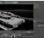 绿色大气坦克C4D模型 军事
