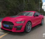 粉色4s店高端福特野马跑车C4D模型