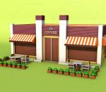 卡通咖啡屋 咖啡馆 水吧 吧台 酒吧 餐厅 购物中心
