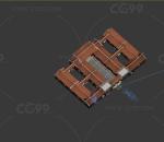 古建住宅四合院门头MAX模型