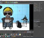 程序员 带耳机男孩 可爱卡通男孩人物 动画角色 小学生