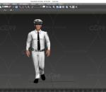 多种格式文件  民警 警察 带动画 带绑定 男性人物  人民公仆 大帅哥 走路