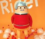 卡通男人卡通骑手 戴头盔的男人 眼镜男 男胖子 飞行员 丑男 辛普森 IP 形象