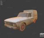 老旧面包车 小型车 车辆 汽车