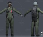 写实飞行员 直升机 飞机驾驶员 空军 现代男人