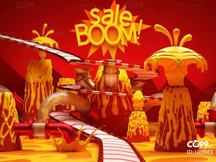 火山 岩浆 爆炸 栏包 广告 流水线 糖浆 巧克力工厂 电商 甩卖 火山喷发 地狱 熔岩