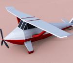 卡通Q版迷你飞机 lowpoly 可爱飞机 滑翔机 客机