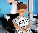 美发理发店 理发师 美容美发 剪发 剃头 男生 IP形象 C4D