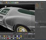 法拉利复古跑车C4D模型