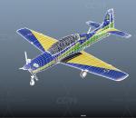 二战战机 双座螺旋桨教练机 特技飞机 双座驾驶舱 战斗机