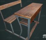 PBR-老旧的木制课桌