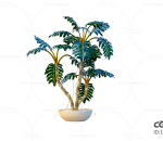 C4D 绿植 盆栽 环境 植物 绿叶 落地