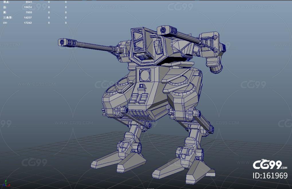 PBR 高品质 战争机器 迷彩黄 科幻 装甲 未来 战斗机甲 写实