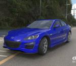 深蓝色4s店高端本田汽车C4D模型 马自达