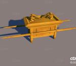 轿子 抬轿 骨灰盒 天使 人偶 约柜 柜子 木柜