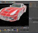 红色4s店高端法拉利跑车C4D模型