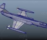 F-104美国战斗机 第二代超音速美国空军飞机 固定翼飞机