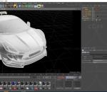 白色4s店高端大气跑车C4D模型 轿车 汽车