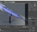 麦克风 话筒 传声器 支架 主播 唱歌 演讲 声音道具 C4D 写实