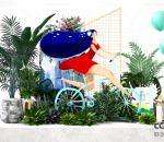 春季旅游 团建 草坪 踏青 大方 美陈 静展 dp 商场 雕塑