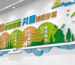 简约几何圆球 新农村发展战略文化墙